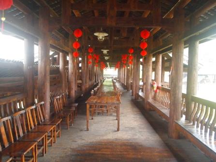 Inside the Dong Wind and Rain Bridge