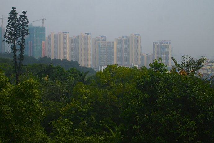 View of Nanning from Zhenning Fort