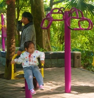Children playing in the People's Park