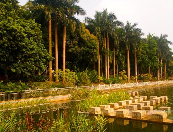 water gardens on Bailong Lake
