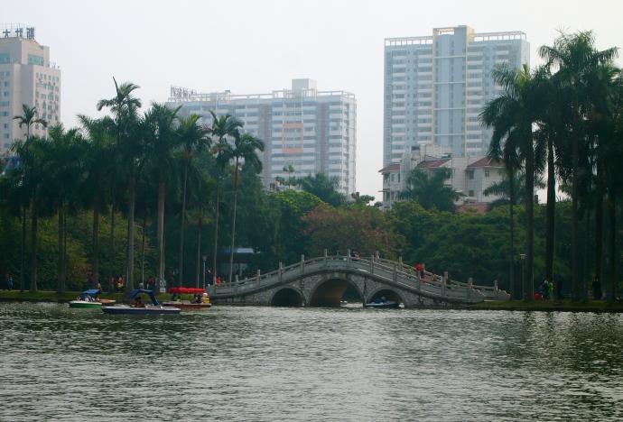 Bridge on Bailong Lake