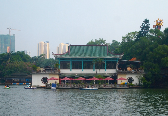 Restaurant on Bailong Lake
