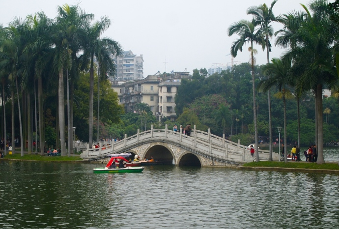 bridge on Bailong Lake