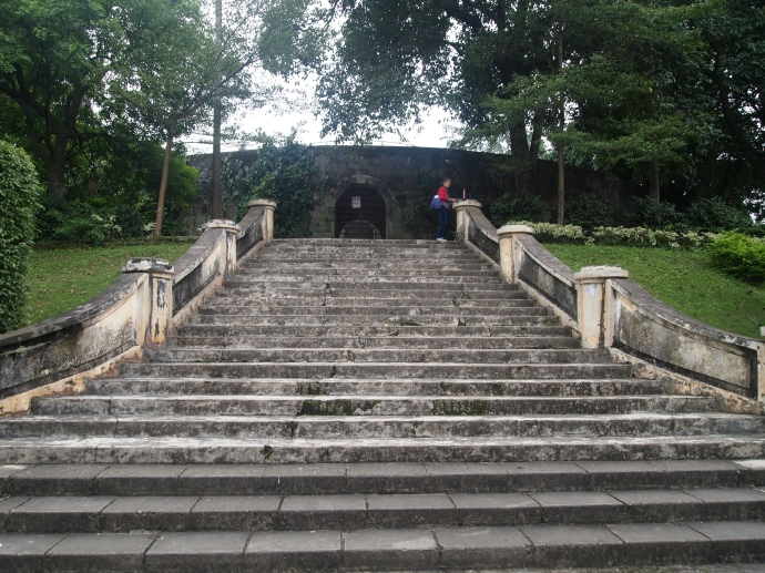 steps to Zhenning Fort