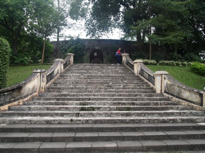 steps to Zhenning Fort
