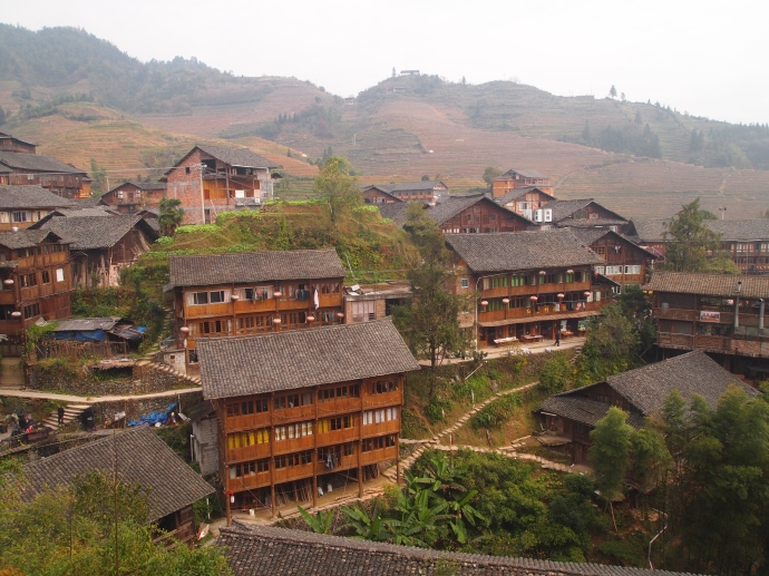 the Zhuang village of Ping'An