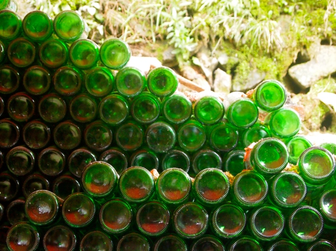 Beer bottles as art