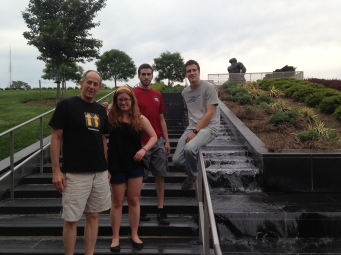 Mike, Sarah, Alex and Adam at VMFA