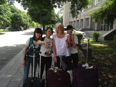 Arrival at Guangxi University