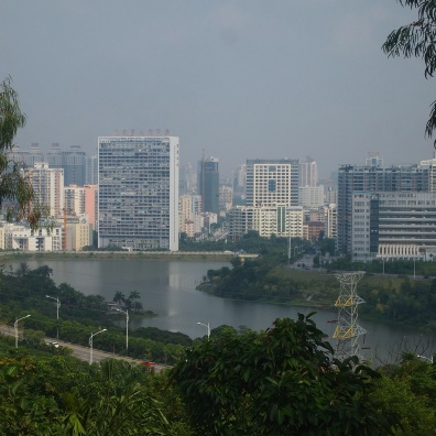 View of Nanning from Qing Xiu Shan