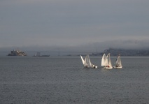 Sailboats and the Golden Gate