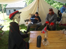 Civil War encampment at Sully Plantation