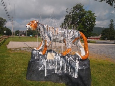 Painted cougar in Bennington
