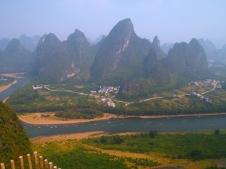 view of the Li River from Xianggong Hill