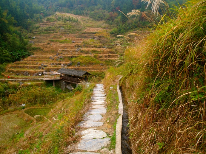 the trail to Longji