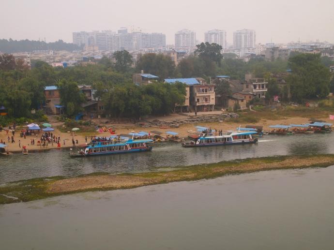 boat launch on the Li River