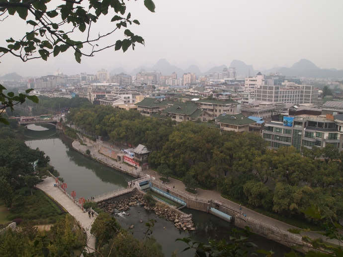 view of Guilin and some of Elephant Hill Park from Elephant Trunk Hill
