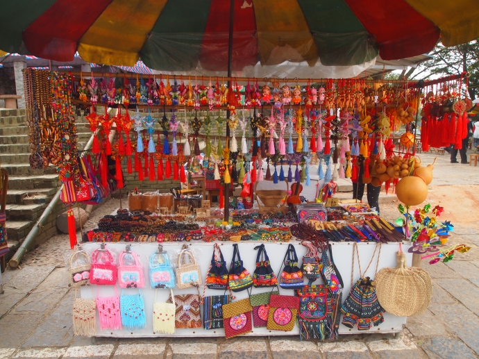 Goods for sale near the Ancient Gate