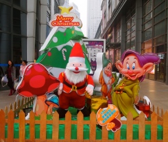 Christmas in downtown Nanning
