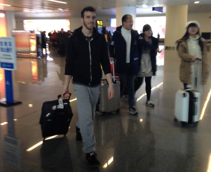 Alex arrives at Nanning Wuxu International Airport