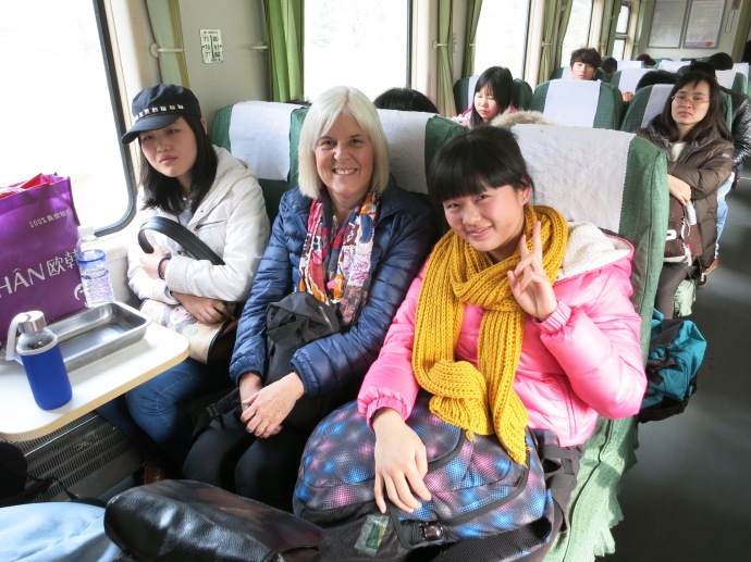 Me on the train to Zhangjiajie - photo by Mike