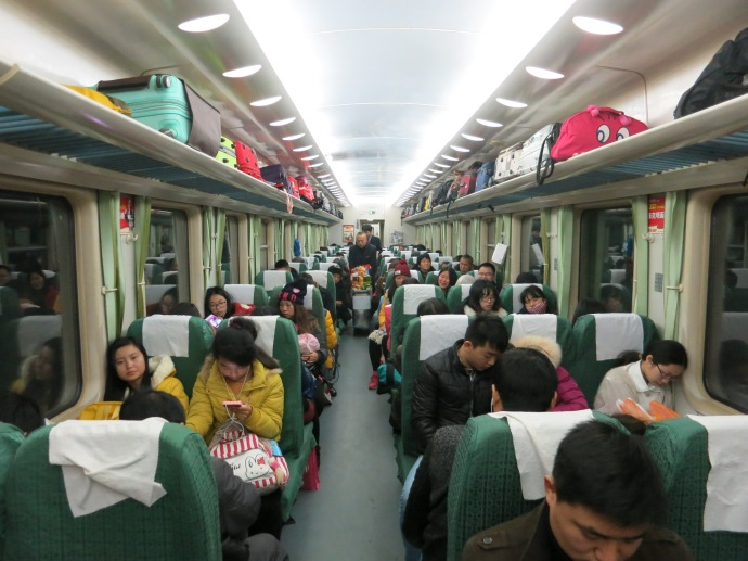 Our train from Jishou to Zhangjiajie - photo by Mike