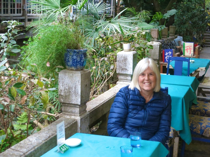 Me at lunch in Yangshuo (Photo by Mike)