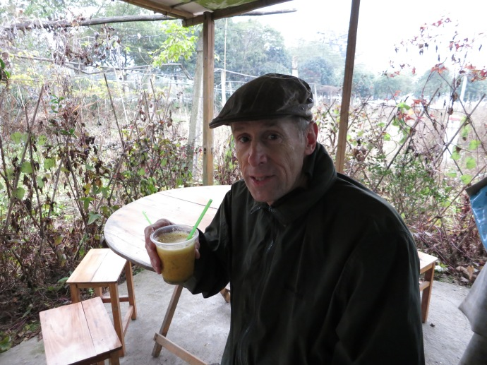 Mike and his passion fruit juice