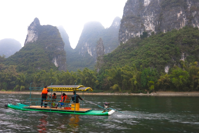 Cruising down the Li River