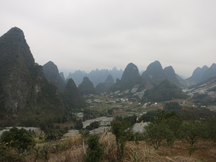 the Yangshuo countryside on the way back to Guilin
