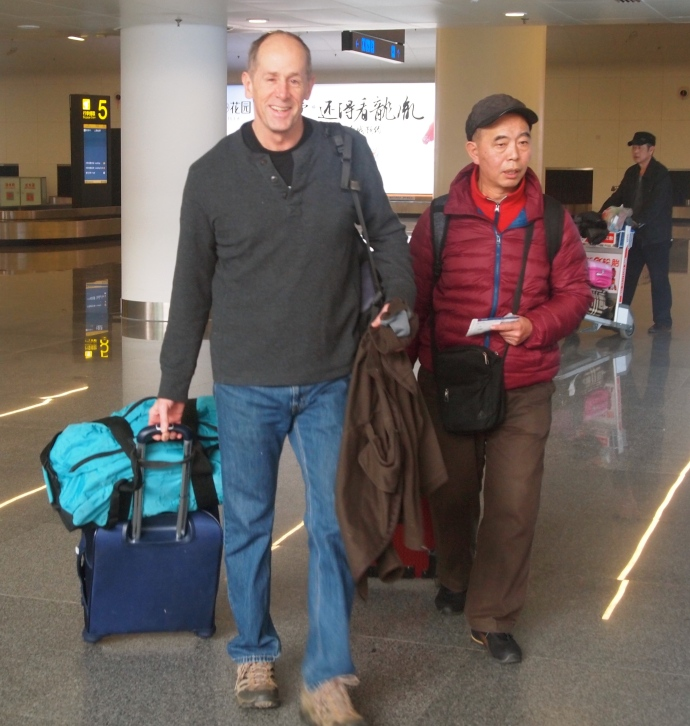 Mike arrives at Nanning International Airport