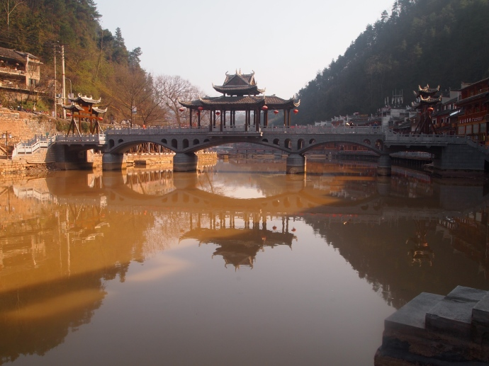 Bridge over the Tuo Jiang River