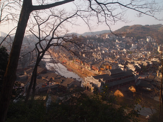 View of the Tuo Jiang River and Fenghuang from the Phoenix Pedestal