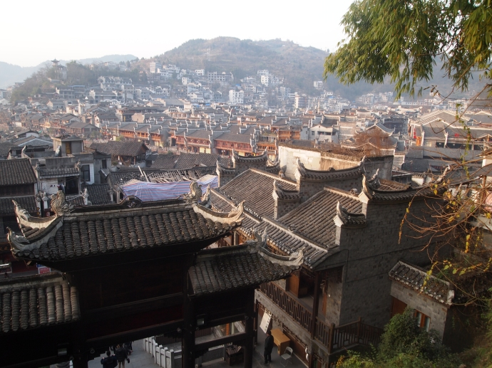 Waning light at Fenghuang from the Phoenix Terrace