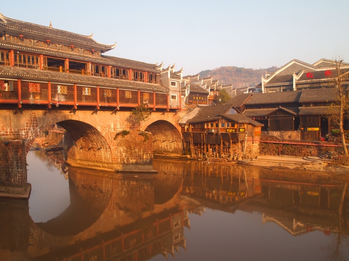Bridge of the Tuo Jiang River