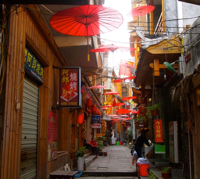 Alley of parasols