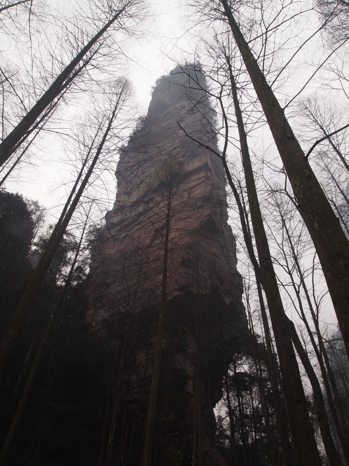looming tower of Golden Whip Crag