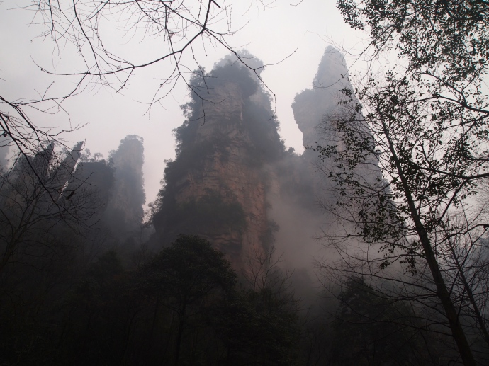 towering pinnacles