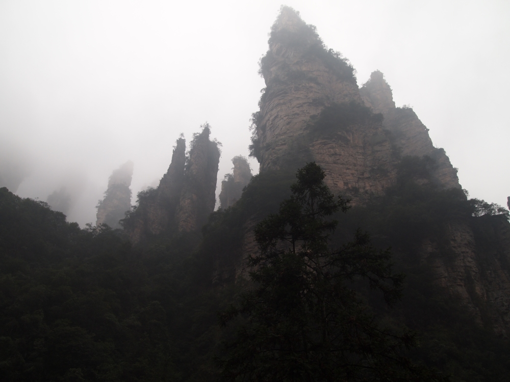 to the heights of zhangjiajie by way of the bailong elevator (2/6)