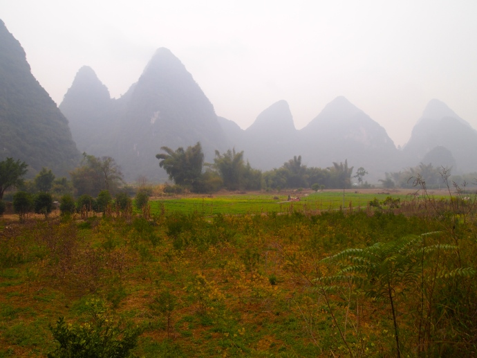 the beautiful karst landscape of Yangshuo