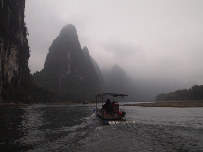 the cloudy Li River