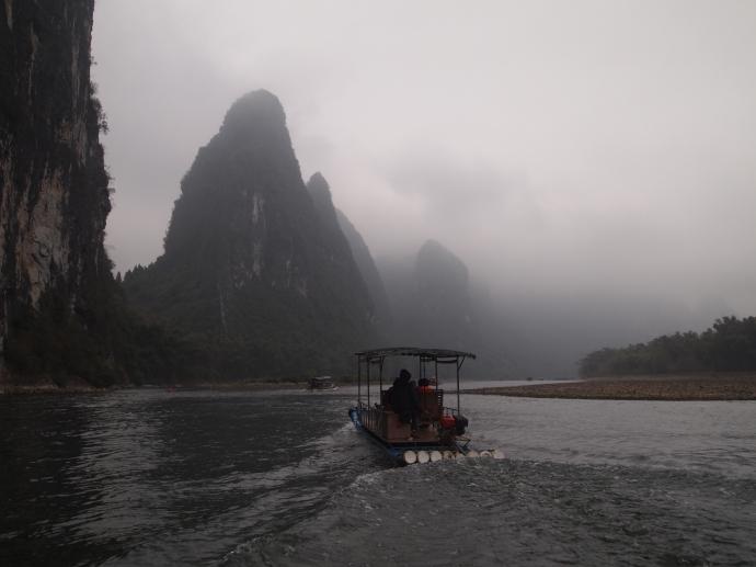 the cloudy Li River