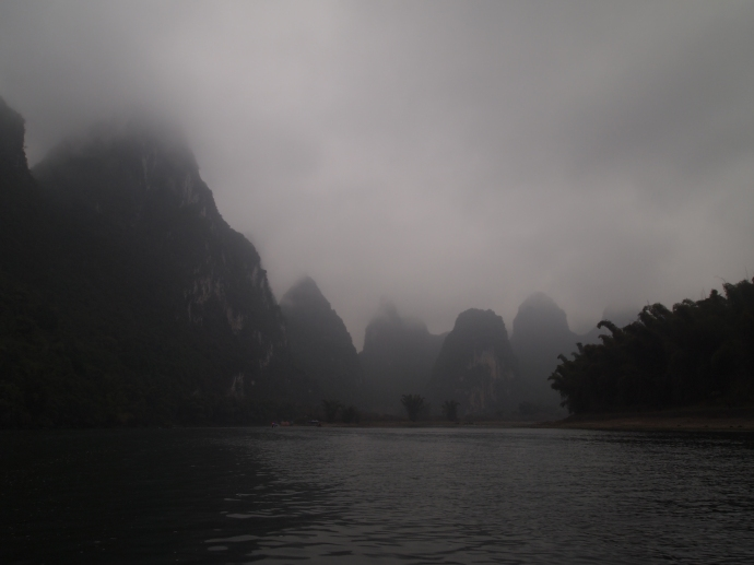 a dark day on the Li River