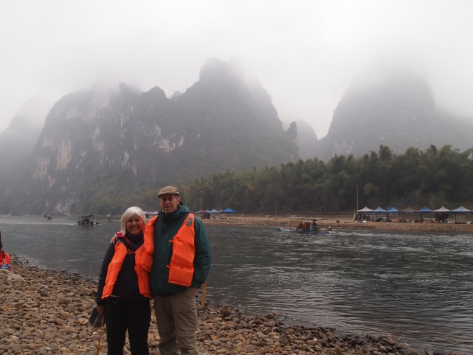 Mike and I on the Li River