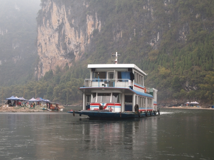 one of the larger boats for the Li River Cruise