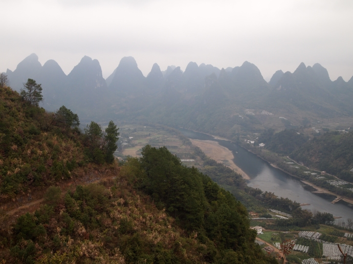 View north to Xingping