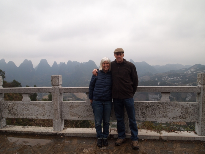 me with Mike at a stopping point overlooking the Li River