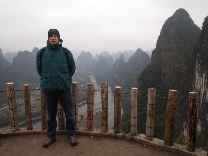 Mike atop Xianggong HIll