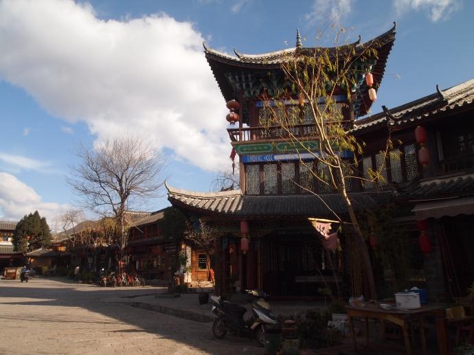 towering pavilion