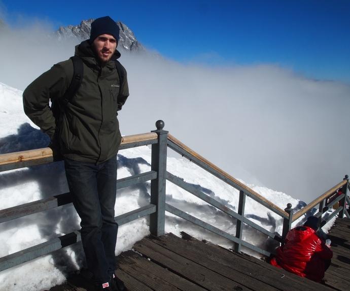 Alex at Jade Dragon Snow Mountain